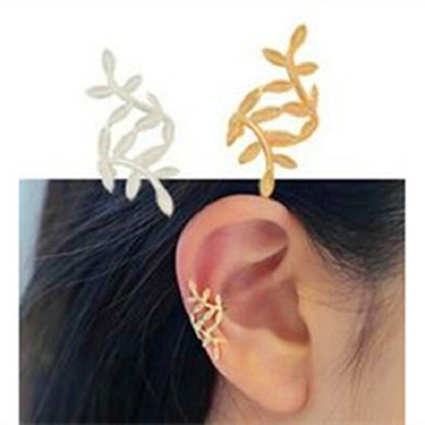 2019 Aretes Brincos Earing Pendientes Of The Spread Of Yiwu Factory Direct Sale Leaves Ear Earrings Woman Without Pierced Bones