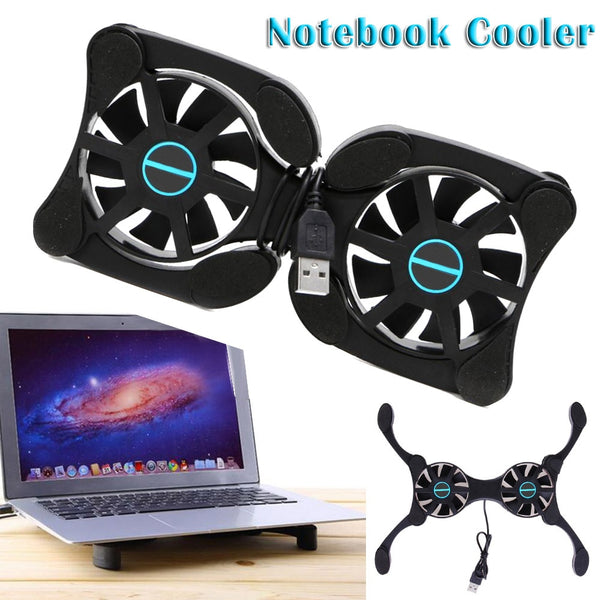 Foldable USB Laptop Cooling Pads With Double Fans Mini Octopus Notebook Cooler Cooling Pad For Inch Notebook Laptop (free gift)