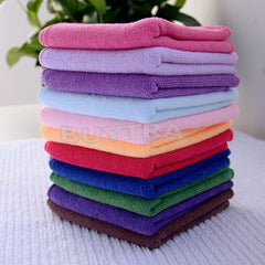 10 pcs Ultra Soft Microfiber Towel Car Washing Cloth for Car Polish& Wax Car Care Styling Cleaning Microfibre 25*25cm