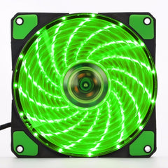 120x 120 x 25mm Computer Cooler 15 LEDs Cooling Fan PC Case Fan Heat sink Wholesale