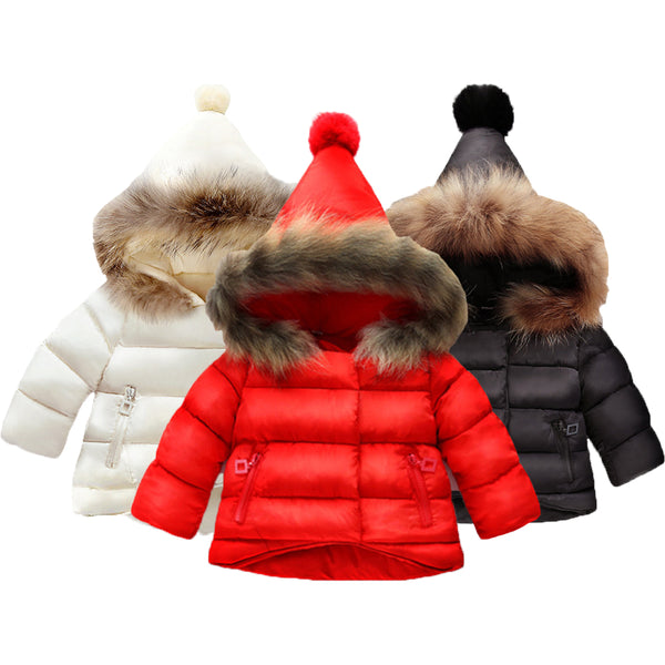 Girls Coat Cotton Warm Jacket For Baby Girls Winter Hoodies Coat Kids Warm Outerwear Children Clothing Toddler Girl Jacket