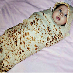 Funny Blanket Mexican Pancake Tortilla Blanket Soft Comfortable Beach Blanket For Adults/Kids