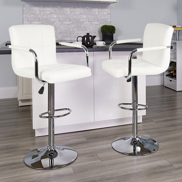 2pcs Stylish Bar Chair Modern European & Americal Bar Stool Swivel Lifting High Stool tabouret de bar for Home Bar Funiture HWC