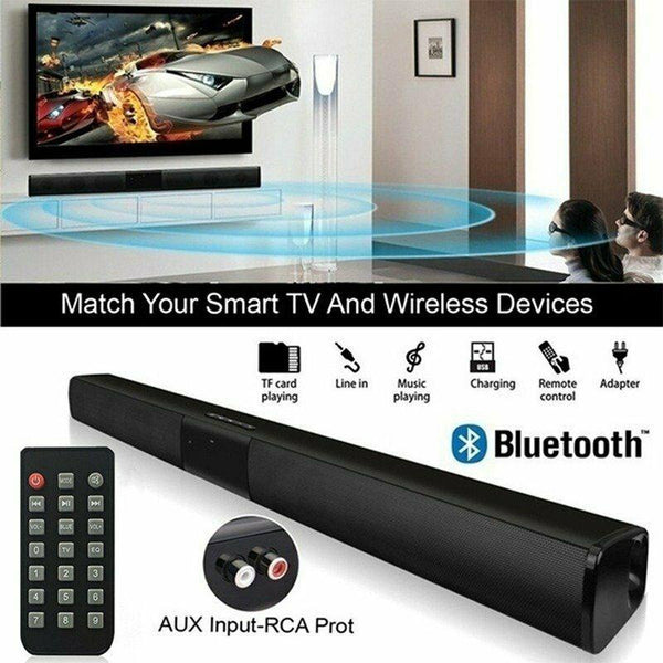 Home Theater 20W Bluetooth Soundbar TV AUX Optic Bluetooth Sound bar Speakers Column Soundbar Subwoofer Speaker for TV Computer