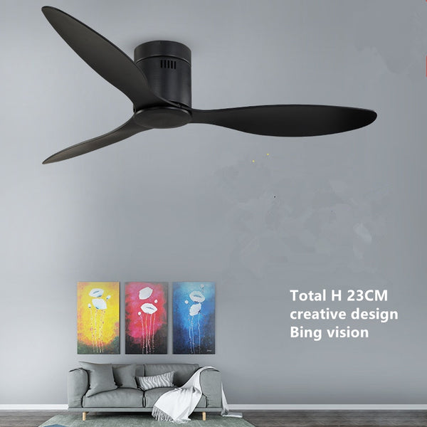 American Industrial Vintage Ceiling Fan without Lights with Remote Control Ventilador De Techo 220V Bedroom 52Inch Ceiling Fan