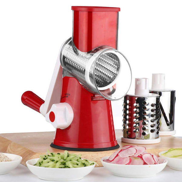 3 In1 Multifunctional Round Mandoline Slicer Manual Vegetable Cutter Slicer Vegetable Spiralizer Potato Slicer Kitchen Gadgets