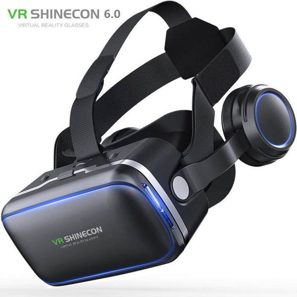 Shinecon 6.0 3D VR Glasses Virtual Reality Casque 3 D Goggles Headset Helmet Box For iPhone Android Smartphone with Controllers