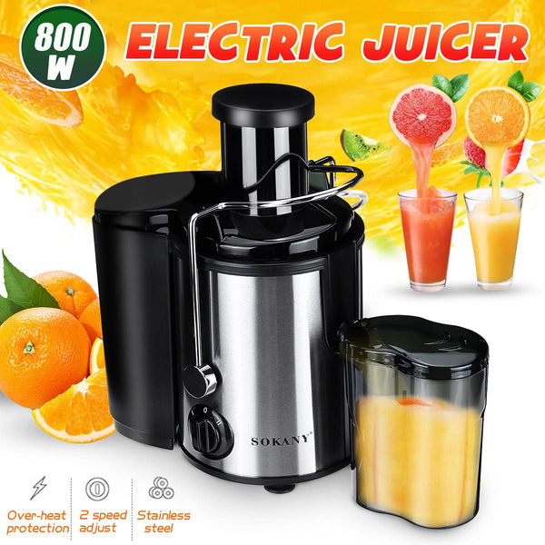 800W Electric Juicer Stainless Steel Juicers Whole Fruit Vegetable Food-Blender Mixer Extractor Machine 2 Speed Adjustment