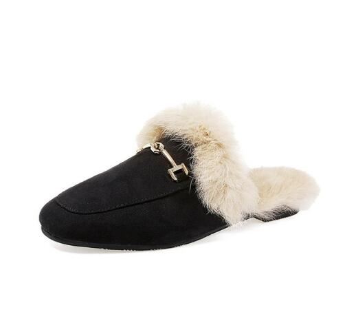 Women's Slides Slip On Mule Flats Shoes Wholesales Slippers With Fur Loafers Dropshipping Woman Flip Flops Mules