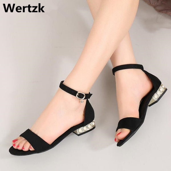 Korean Style 2018 Summer Women Sandals Open Toe Flip Flops Women's Flat Sandles with Low Women Shoes Gladiator Shoes L101