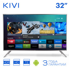 LED Television KIVI 32HR50GR HD Smart TV Android HDR 32inchTv digital dvb dvb-t dvb-t2