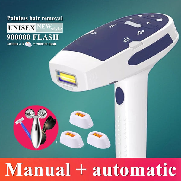 900000 flash IPL laser hair removal machine laser epilator Facial hair removal permanent bikini trimmer electric depilador laser