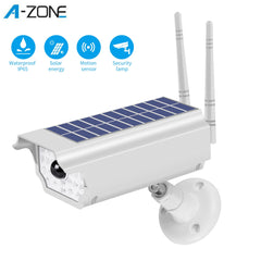 A-ZONE Solar LED Light Dummy Security Camera IP65 Waterproof PIR Motion Sensor Outdoor CCTV Fake Surveillance Simulation Camera
