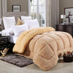 Camel Cashmere Blanket Wholesale Spring And Autumn Quilt Thick Villus Quilt Winter Quilt Hua Fiber Bei Gift Blanket Special Pric