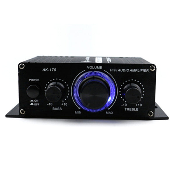 Car Amplifier 12V Mini Hi-Fi Amplifier Subwoofer Booster Radio MP3 Channel Stereo Sound For Car Motorcycle AK170