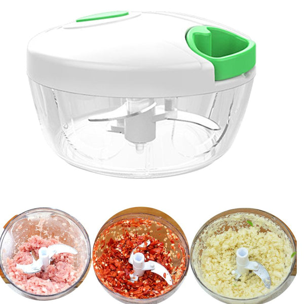 Manual Food Processor Pull String Vegetable Chopper Fruits Nuts Onions Chopper, Hand Pull Mincer Blender Mixer Food Chopper