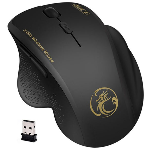 Wireless Mouse Computer Mouse Wireless 2.4 Ghz 1600 DPI Ergonomic Mouse Power Saving Mause Optical USB PC Mice for Laptop PC