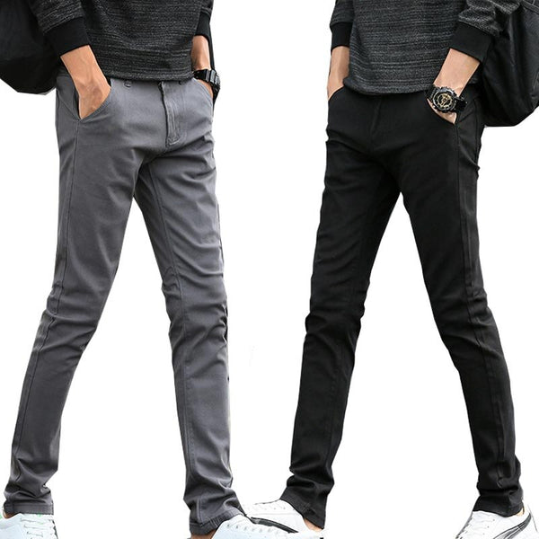 Men's trousers spring and autumn casual pants sports slimming 2019 new straight tube small leg trousers