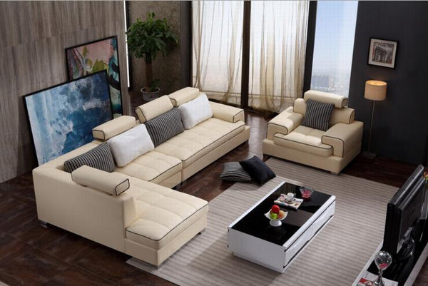 modern style  living room Genuine leather sofa a1311