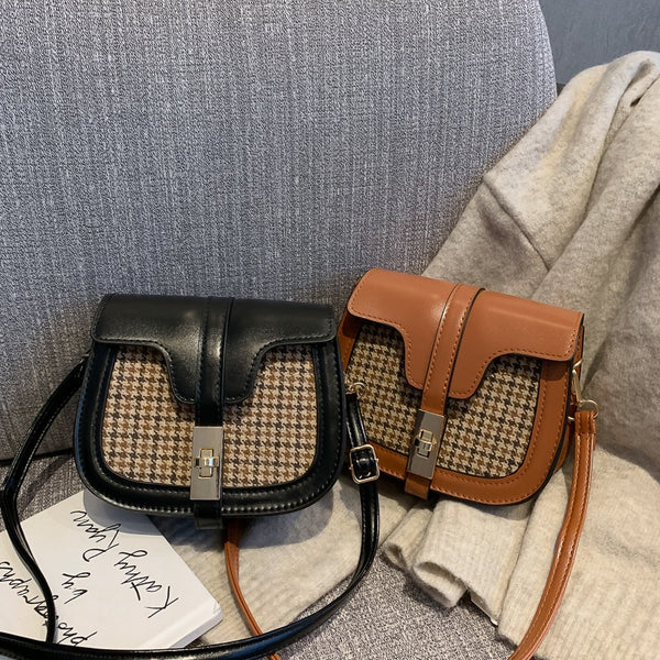 Tonny Kizz Small Crossbody Bags For Women 2019 All-match Plaid Messenger Shoulder Bags Saddle Ladies Hand Bags bolsa