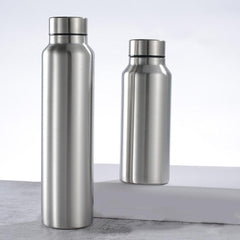 650ML/1000ML Stainless Cola Motion Sports Water Bottle Rugged Water Cup Monolayer Metal Color Cola Drink Bottle Drinkware