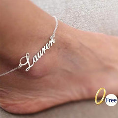 Personalized Name Anklet Gold stainless steel custom ankle bracelet Custom Leg Chain Ankle bracelet Handmade Any initial anklet