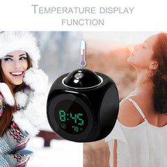 2019 new LCD Projection Voice Talking alarm clock backlight Electronic Digital Projector Watch desk Temperature display