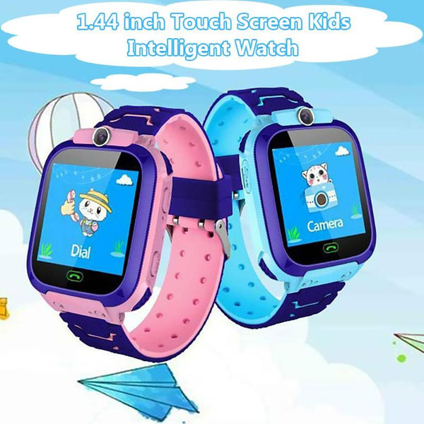 Q12 Waterproof Smart Watch 1.44 inch Voice Chat LBS Baby Kids Watch Children Digital Smartwatch for IOS Android Kids Toy Gift