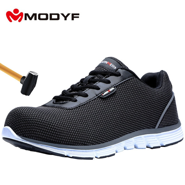MODYF Men's Work Safety Shoes Steel Toe Cap Lightweight Breathable Construction Protective Footwear Anti-smashing shoes