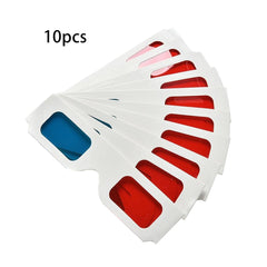 50pcs/100pcs/10pcs/lot Universal Paper Anaglyph 3D Glasses Paper 3D Glasses View Anaglyph Red/Blue 3D Glass For Movie Video