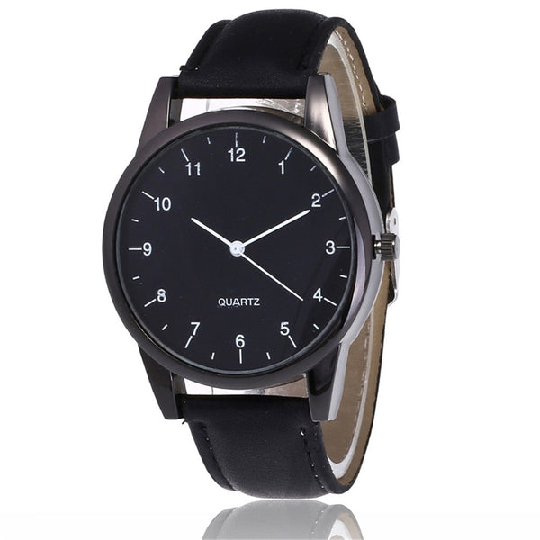 Couple Fashion Leather Band Analog Quartz Round Wrist Business men's watch Ladies Dress Wr Ist Watches Clock Women Couple New