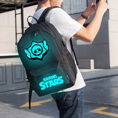 Brand Cool Luminous School Bags for Boys and Girls Backpack with USB Charging Games Mochilas For Teenager Girls Anti-theft