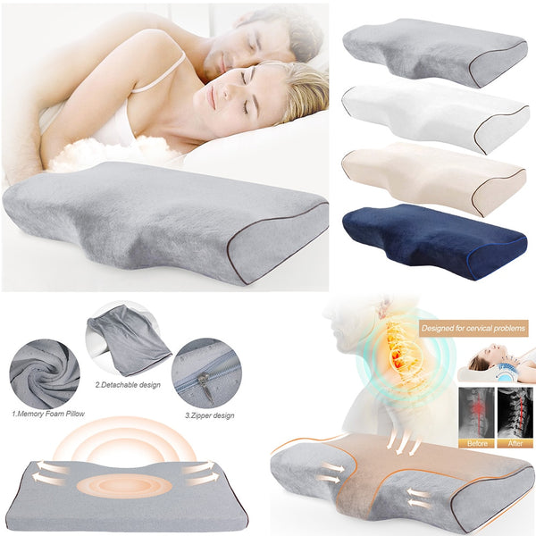 Orthopedic Pillow Travel Neck Pillow Memory Foam PillowSlow Rebound Massager Cervical Health Care Improve Soft Sleeping