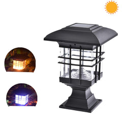 Waterproof Landscape Garden Solar Light LED Outdoor Post Deck Cap Column Fence Landscape Lamp Night Security Decor Solar Lamp