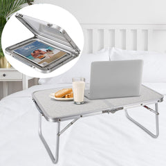 Folding Laptop Table Lapdesk Breakfast Bed Serving Tray Portable Mini Picnic Desk Notebook Hand Stand Reading Holder for Couch