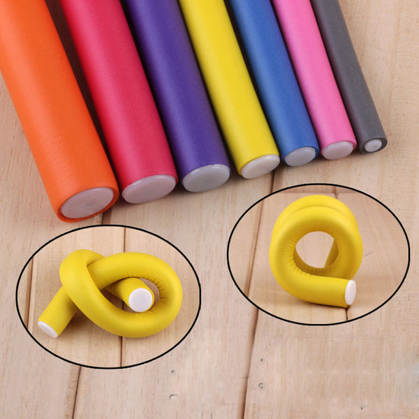 10pcs Magic Hair Curlers Rollers Soft Foam Bendy Hair Rollers DIY Hair Styling Tool Hair curler modeler Spiral Roller Curlers