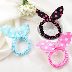 3pcs Hair Care Tools Hair Braid Polka Dot Elastic Ring Hair Rope Ponytail Holder Rabbit Ears Tie Maintenance Styling Hairband