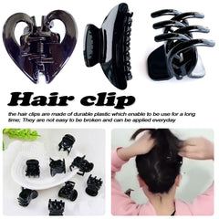 Butterfly Holding Hair Claw Bright Black 2 Pcs/lot  Section Styling Tools Hair Clip Clamps Care Hairpins Salon Fix Hair Sell