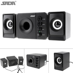 SADA D-205 Newest Full Range 3D Stereo Subwoofer 100% Bass PC Speaker Portable Music DJ USB Computer Speakers for Laptop TV