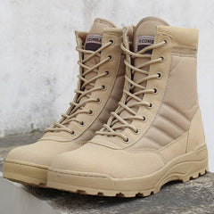 LZJ 2019 Winter New Military Boots Men's Comfortable Warm Desert Boots Fashion Tactical Boots Ankle Strap Men's Snow Boots 36-46