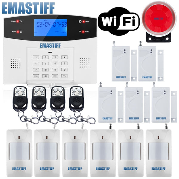 Ios Android App Wired Wireless Home Security Lcd Pstn Wifi Gsm Alarm S Americacollections Com Easy Online Shopping Experience In Usa Canada