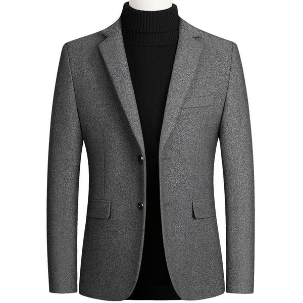 Mens Blazers Autumn Winter Men's Jacket Wool Woolen Suit Coat High Quality Spring Business Casual Suit Jacket Male Outerwear 4XL