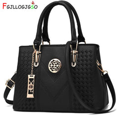 FGJLLOGJGSO Embroidery Messenger Bag Brand Women Handbags Leather Female Crossbody Shoulder Bag Lady Hand Bag Sac Bolsa Feminina