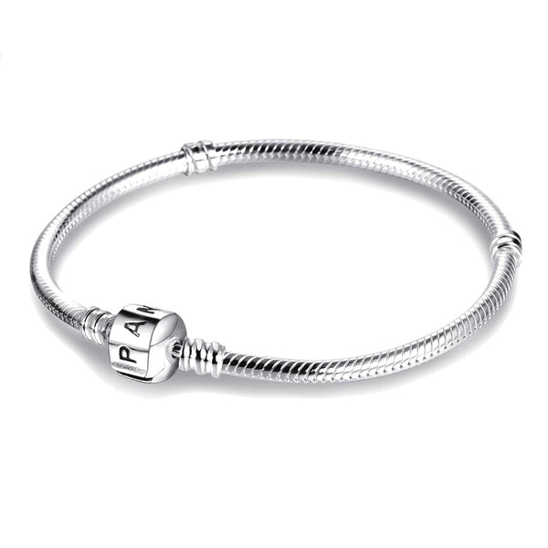 90% OFF! Fit Pandora Charms Chain Bracelet with Original LOGO 100% 925 Sterling Silver Charms Bracelet Certified Jewelry PSL005