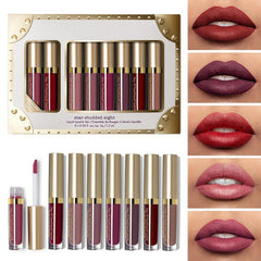 Liquid Matte 8Pcs Lipstick Set Waterproof Makeup Lip Gloss Comfortable Long-lasting Lipgloss Kit Cosmetics