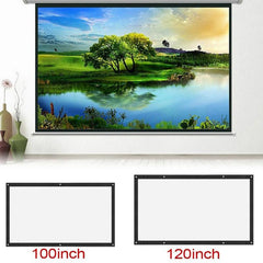 120 inch-60inch Projection Screens 3D HD Wall Mounted Projection Screen Canvas LED Projector for Home Theater