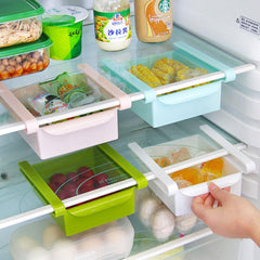 Kitchen Fridge Organizer ABS Freezer Space Saver Organization Storage Rack Bathroom Shelf Rack Organizer Holder Egg Basket
