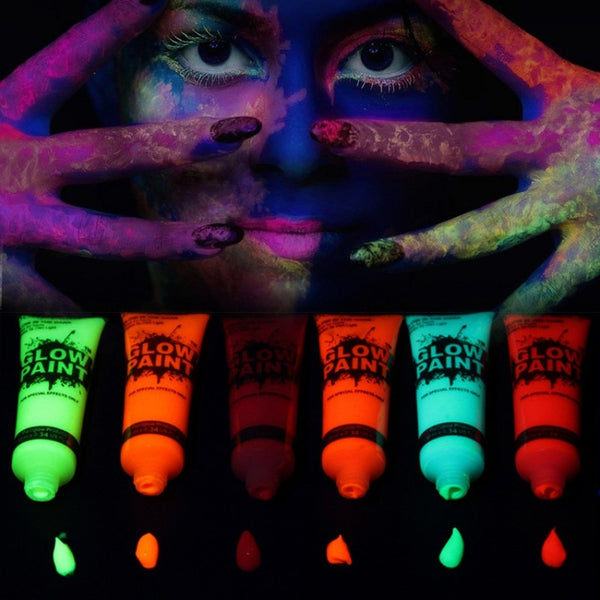 UV Fluorescent Party Festival Halloween Cosplay Makeup Kids Face Paint UV Bio Glow Neon Body Paint Art Neon Make Up Paint Cream