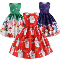 Christmas Dress Kids Girls Halloween Dresses For Girls Princess Dress Baby Girl Party Clothes Teens Costume Dress 2-10 Years
