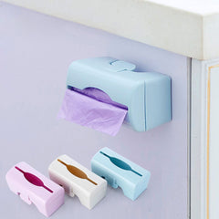 1 PC Trash Bags Storage Container Kitchen Gadgets Wall-mounted Plastic Bag Storage Box Bathroom Organization Multi-purpose